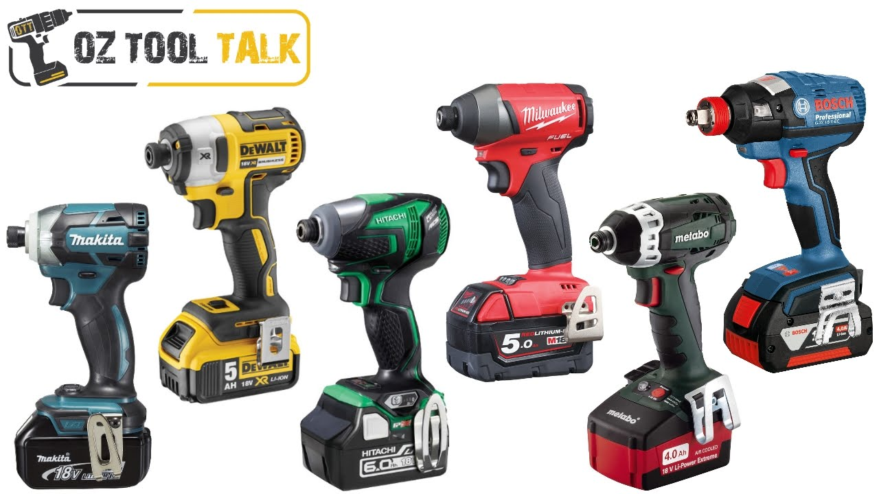 18v Brushless Impact Driver Shootout Makita Milwaukee Dewalt Bosch Hitachi Metabo You