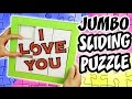 JUMBO SLIDING PUZZLE of Cardboard - Gift Idea| aPasos Crafts DIY