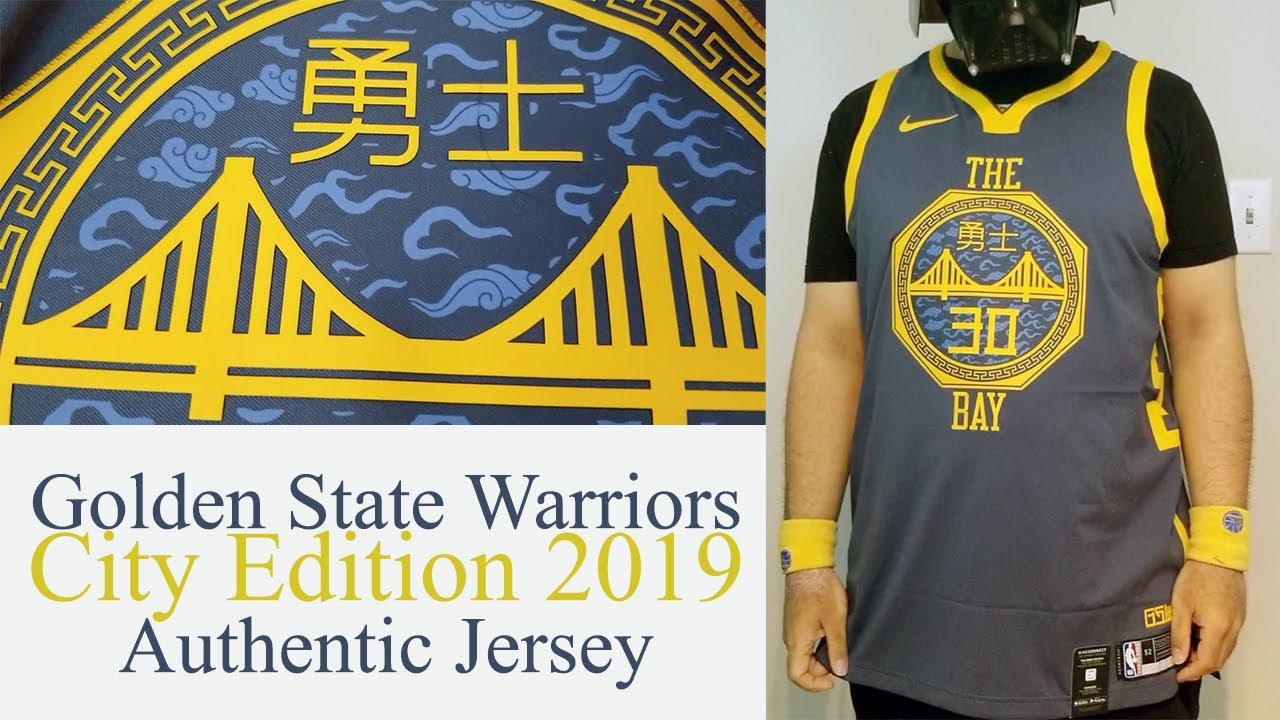 28ce8a03d72 Warriors  The City Edition 2019 Nike Authentic jersey Review - YouTube