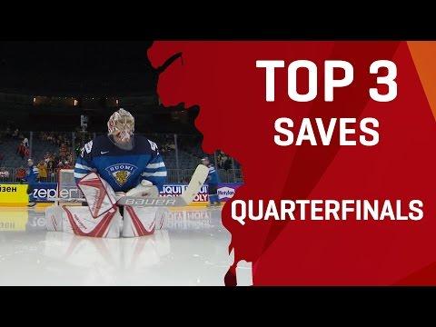 Top 3 Saves - Quarterfinals - #IIHFWorlds 2017 - 동영상