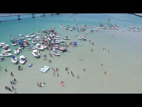 Drone flyover--Gasparilla Sound, Placida, Florida