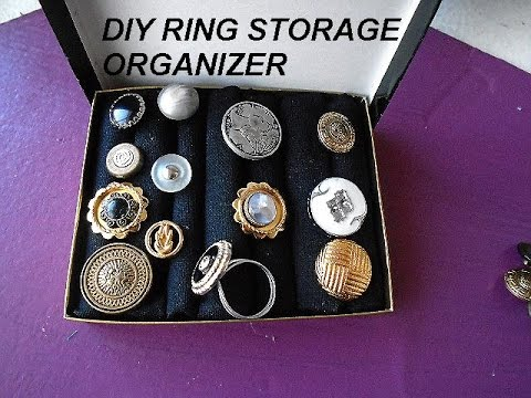 Diy ring organizer and storage box jewelry supplies for Craft and jewelry supplies