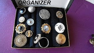 Diy Ring Organizer And Storage Box, Jewelry Supplies, Craft Show Display