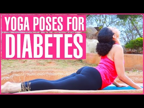 5 Yoga Poses For DIABETES | Lower Blood Sugar Levels