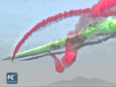 RAW: UAE Aerobatic Display Team performs at Langkawi Int'l Maritime and Aerospace  Exhibition