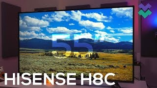 "Hisense H8C Review: Best Budget 55"" 4K HDR TV for $550!?"