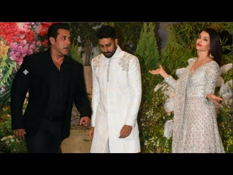 Salman Khan And Aishwarya Rai Under One Roof At Sonam Kapoor's Reception