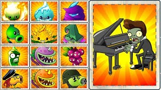 Top 100 Every Plant Power-Up! Plants vs Zombies 2 vs Piano Zombie Primal Plantas Contra Zombies 2