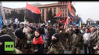 Ukraine: Right Sector rally in Dnepropetrovsk for 'Ukrainian unity'
