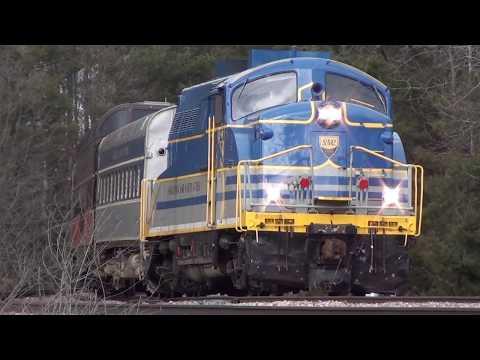 Last Run of the Saratoga & North Creek Railway, Plus CP 252, Saratoga Springs, NY. 4-7-18.