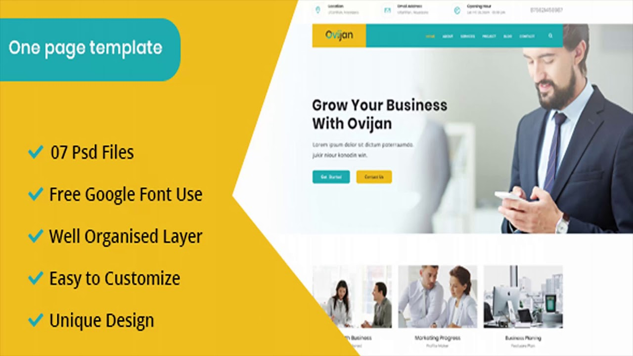 Ovijan Corporate Business And Consulting Template Themeforest