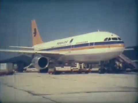 Hapag Lloyd Airbus A300 - Super 8 footage