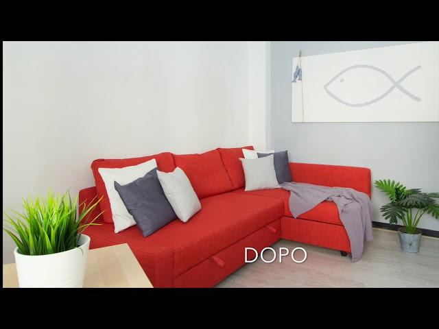 PRIM-|DOPO | HOME STAGING | APPARTAMENTO FISH&CHIPS | MICRORICETTIVITA'