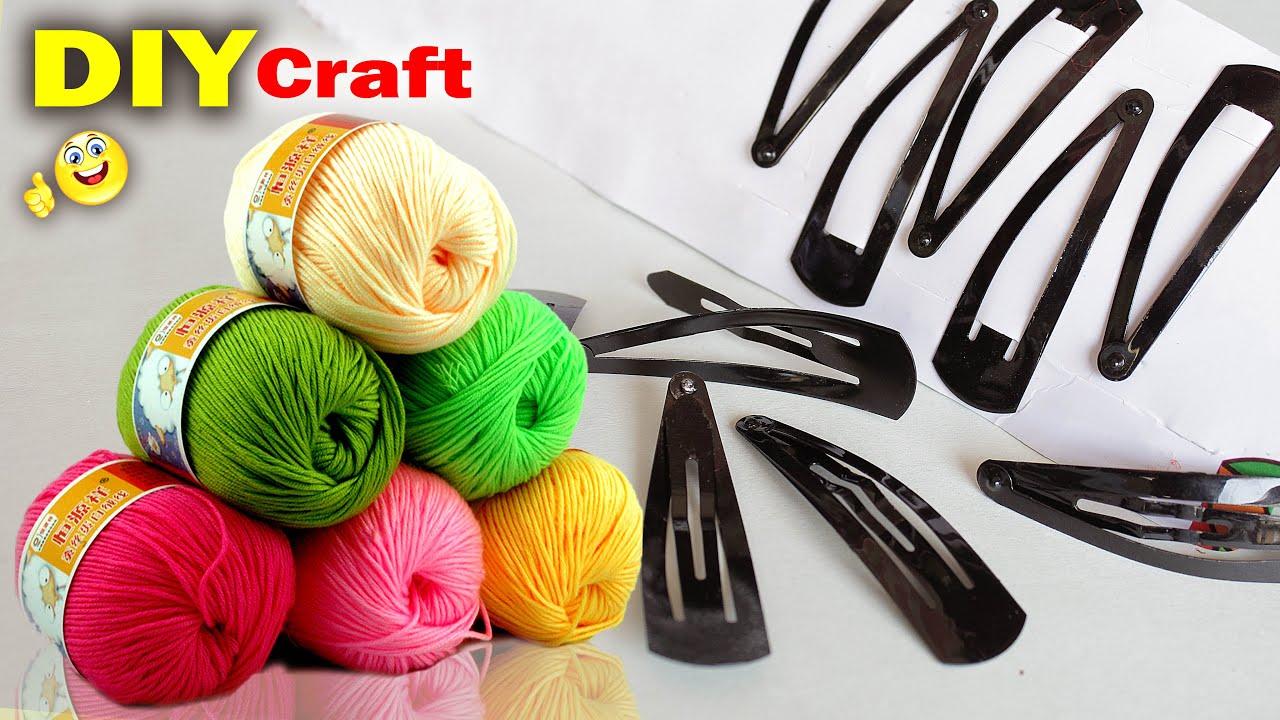 Best Craft Ideas Out of Woolen! Hair Pin Craft | Room Decor