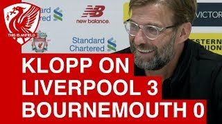 Jurgen Klopp Post-Match Press Conference | Liverpool 3-0 Bournemouth