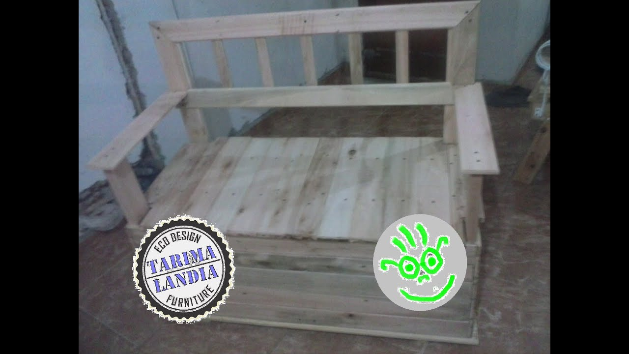Sillon baul dos en uno con maderas recicladas de palet - Como tapizar un sillon ...