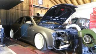 Stage 3 Audi a4 1.8t Dyno pull.  320awhp 330tq