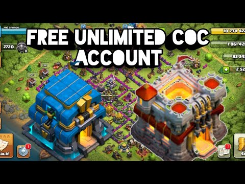 Free Unlimited COC Account | Clash Of Clans Free COC Account |