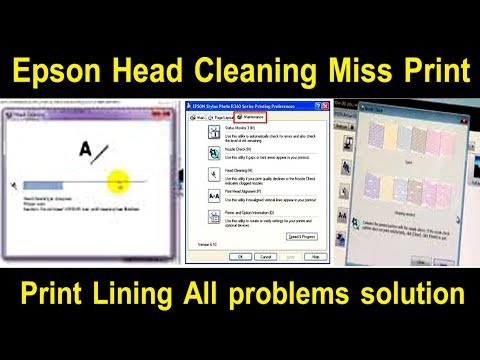 Epson T60,T50 Lining Problem Miss Print,Head Cleaning Problem solutions details