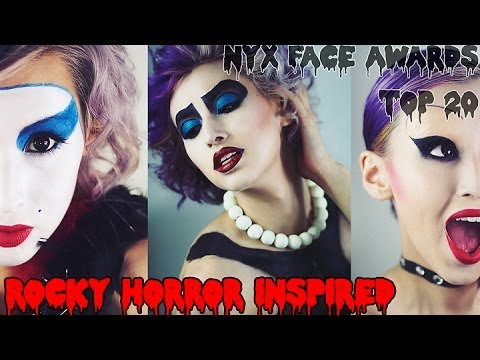 Rocky Horror Picture Show Inspired Makeup ✭ NYX Face Awards 2014 Challenge #2
