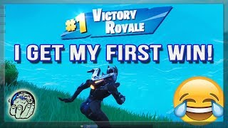 I get my FIRST Fortnite Victory EVER! Funny Fortnite Gameplay