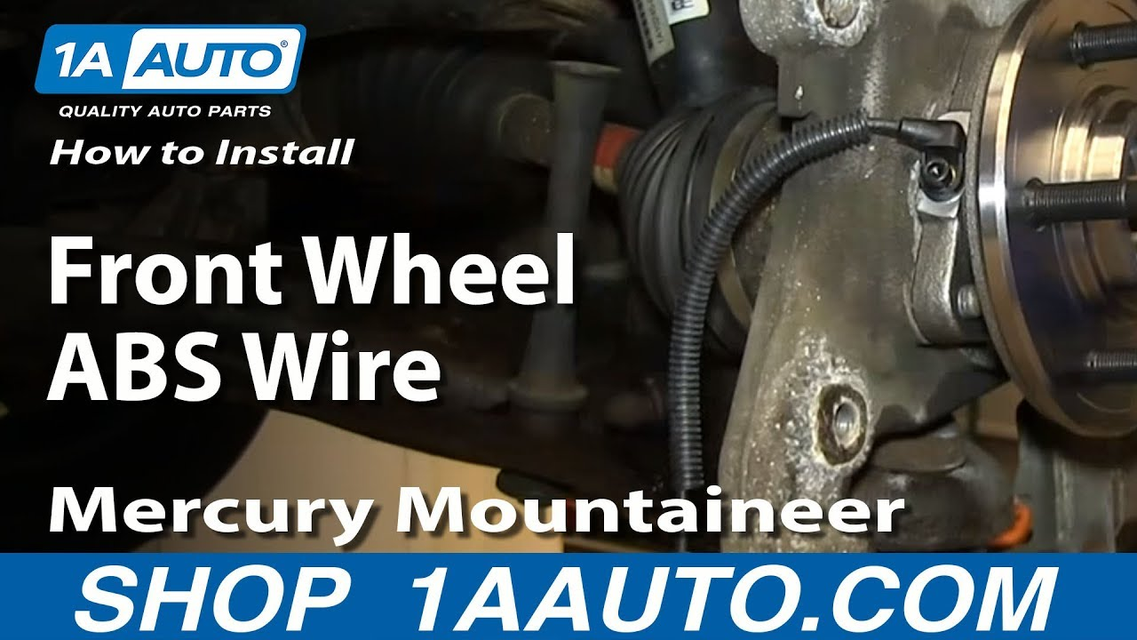 how to install replace front wheel abs wire harness 2002 05 explorer mountaineer youtube 1998 ford mustang wiring harness Ford Mustang Backup Camera Wiring Harness
