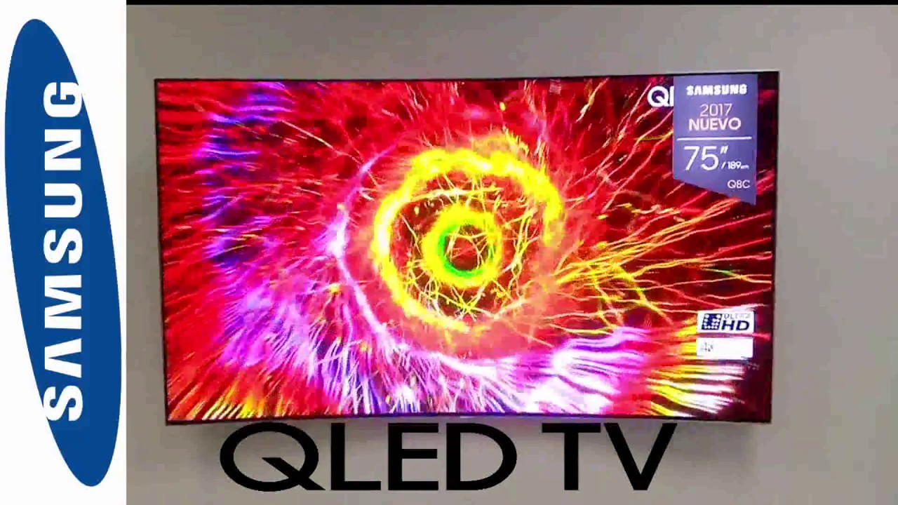 63127b017 UNBOXING SAMSUNG QLED 75'' TV Q8C CURVED New model 2017+ APPS+ UHD+4K!!