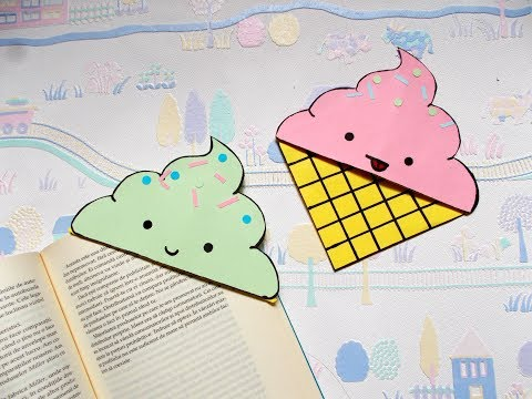DIY Icecream bookmark corners   Paper crafts   Summer crafts   Origami