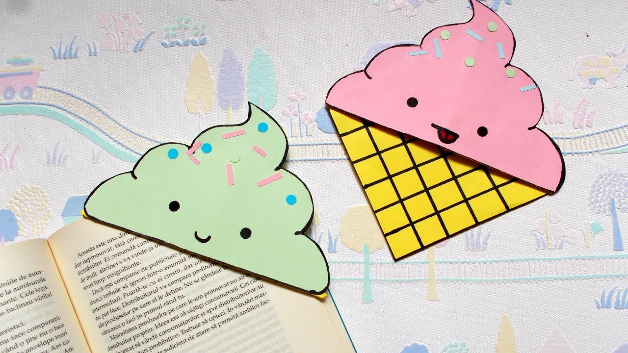 craft bookmark ideas diy icecream bookmark corners back to school supplies 1433