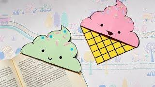 DIY Icecream bookmark corners | Paper crafts | Summer crafts | Origami