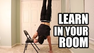 Learn How to Handstand In Your Room |  Chair Progression Exercises