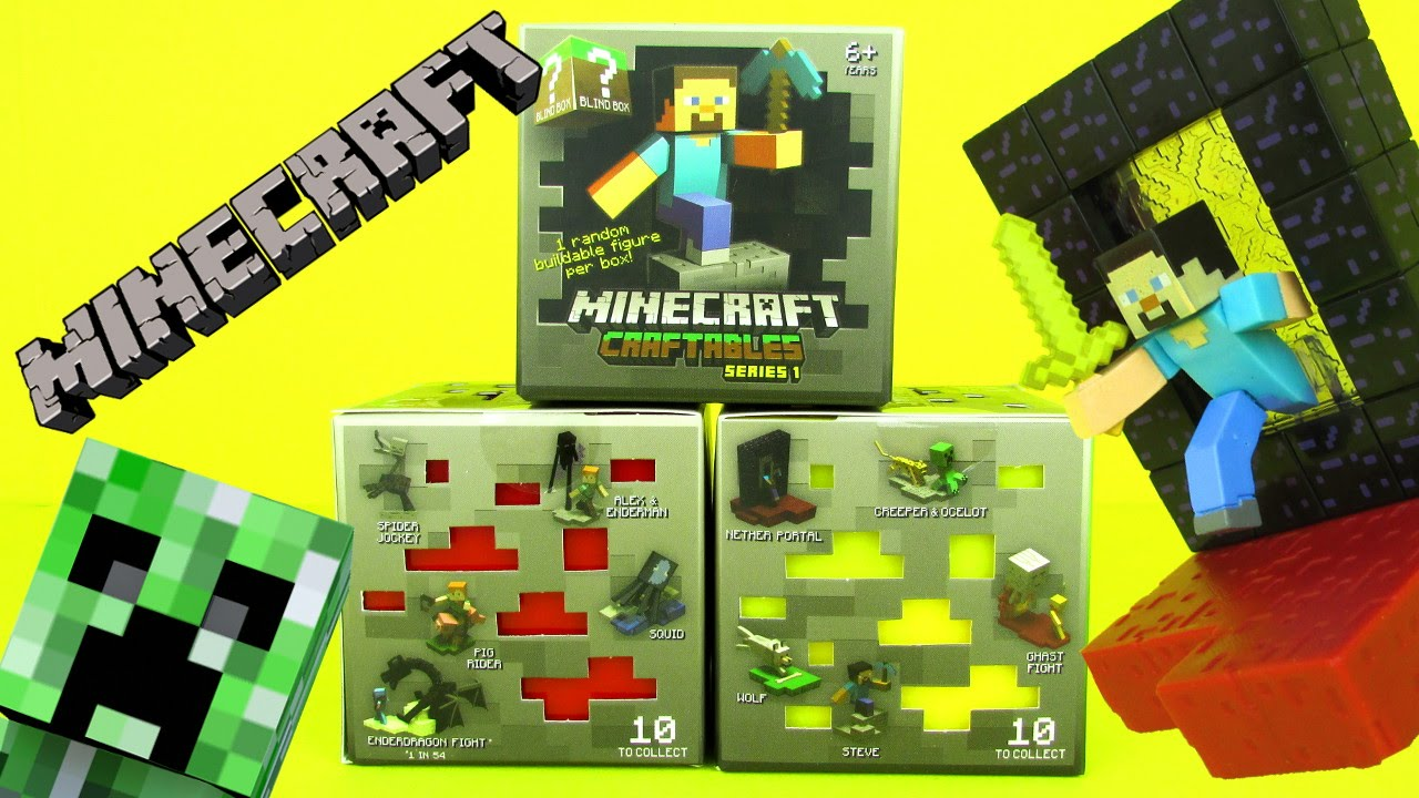 New Minecraft Craftables Blind Box Buildable Figures