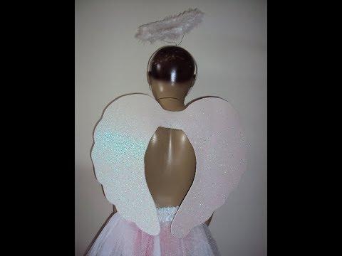 Diy Asa De Anjo De Eva Glitter Como Fazer