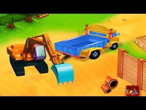เกมส์รถแม็คโคร แมคโครตักดินบังคับ แบคโฮ รถดั้ม ภารกิจเกมส์ก่อสร้าง Excavator Kids