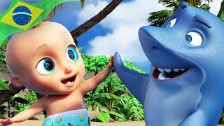 🦈Bebê Tubarão - (Baby Shark) LooLoo Kids Português - Músicas Infantis