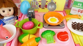 [9.32 MB] Kitchen cart and Baby Doll toys surprise eggs baby doli play