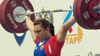 2011 European Weightlifting Championships, Women 75 kg \ Тяжелая Атлетика. Чемпионат Европы