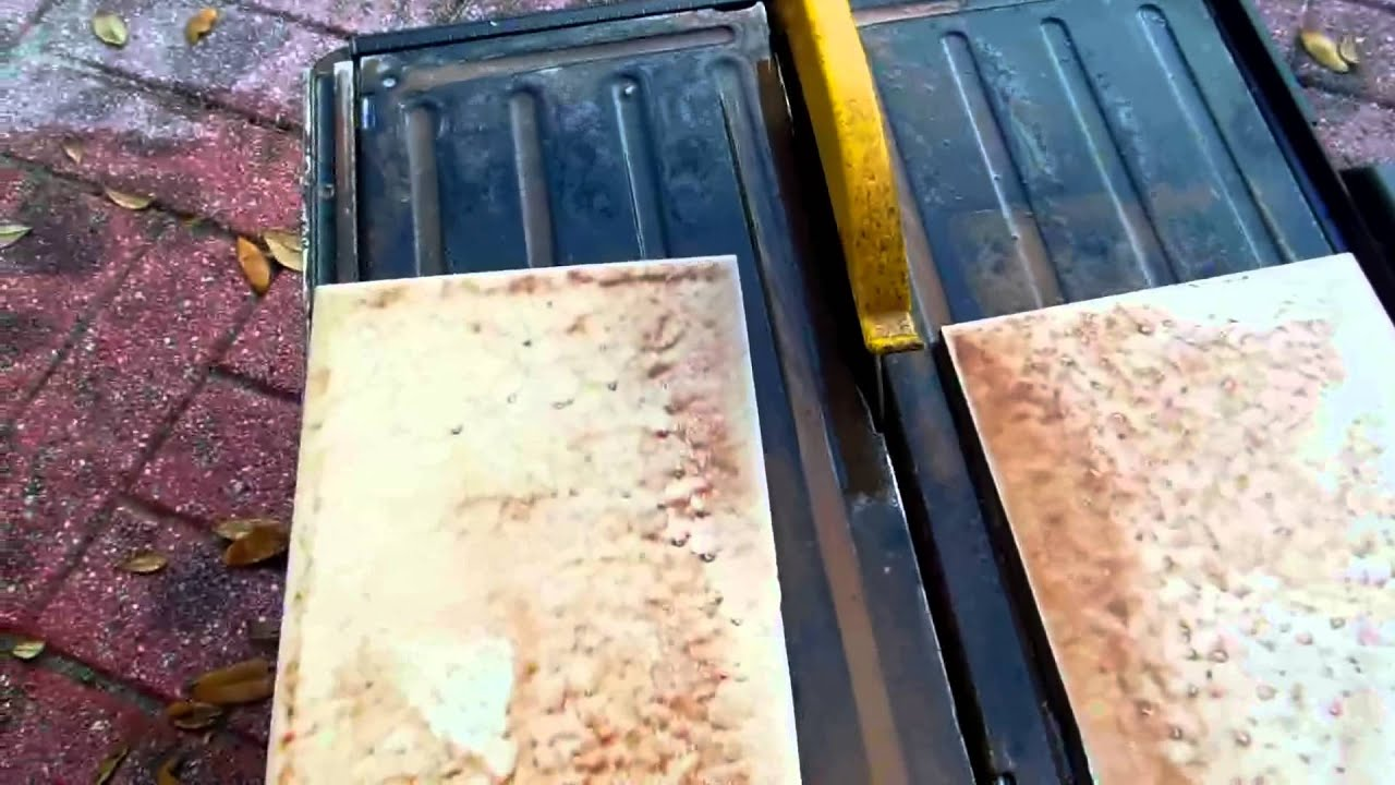 how to cut granite tiles with wet saw video