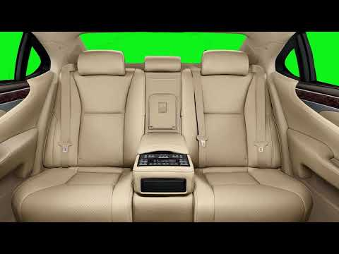 Back Passenger Seats in Luxury Car Green Screen with SFX