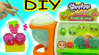 DIY Liquid Water Filled Fruit Inspired Shopkins - Do It Yourself Dollar Tree Craft Video