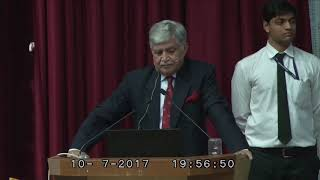 Gen V P Malik, Former Chief of Indian Army, speaks about leadership at sri balaji society, Pune