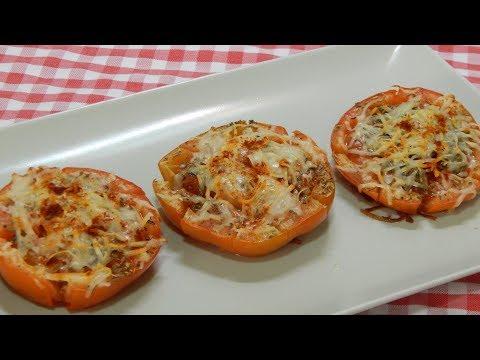 Receta fácil y rápida de tomates especiados y gratinados