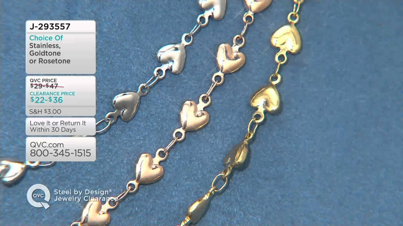 Stainless Steel Heart Strand Necklace On Qvc Youtube