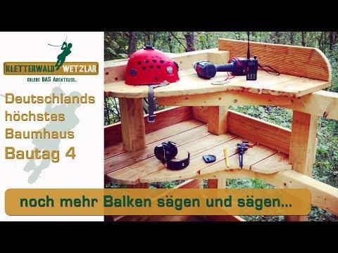 Baumhaus selber bauen, Tag 4 der Baustelle, Übernachtung im Kletterwald, treehouse, tree, house DIY