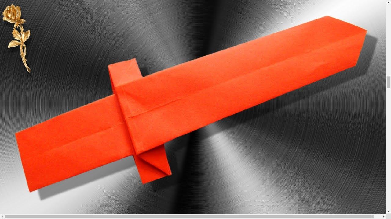 origami facile epee