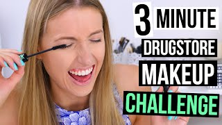 3 MINUTE DRUGSTORE MAKEUP CHALLENGE || Back to School Edition
