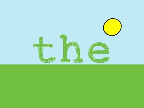 The Sight Word Song for the word The