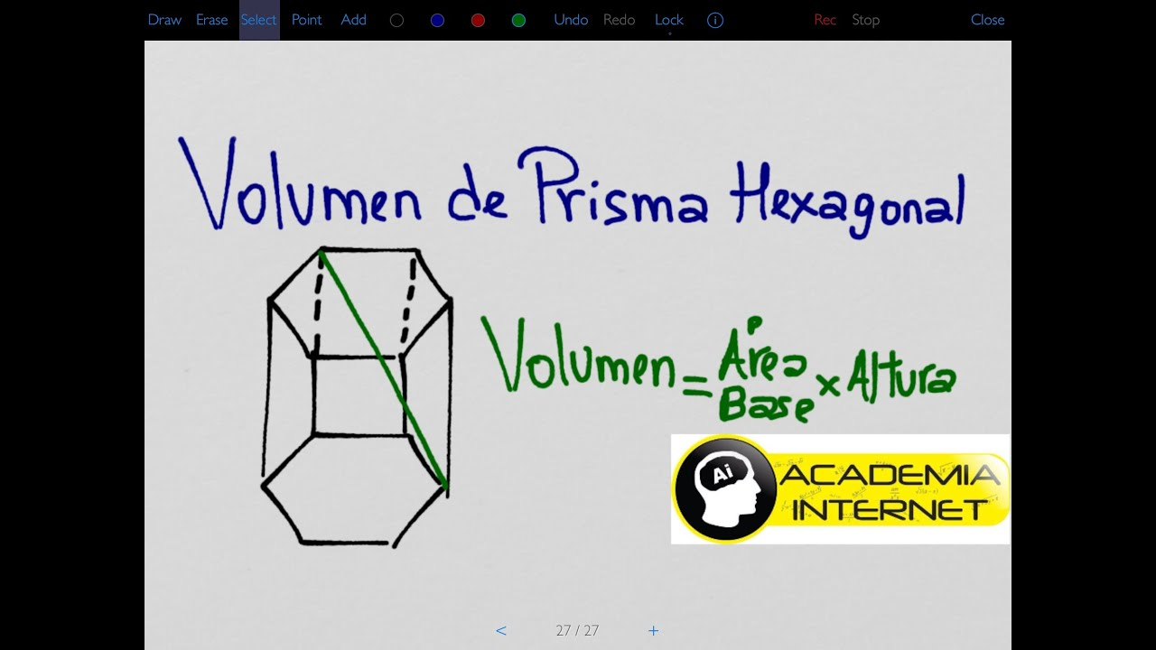 volumen de un prisma hexagonal conociendo su altura y diagonal mayor youtube. Black Bedroom Furniture Sets. Home Design Ideas