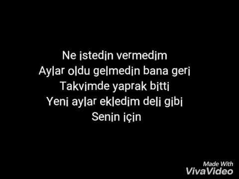 Bahadır Tatlıöz-Takvim Lyrics Şarkı Sözü