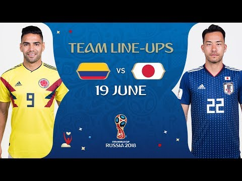 LINEUPS – COLOMBIA v JAPAN - MATCH 16 @ 2018 FIFA World Cup™
